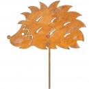 Metal plug hedgehog length 120cm, width 29cm, rust
